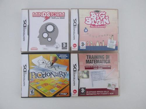 Lote X4 Juegos Originales Para Nintendo Ds