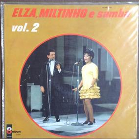 Lp Vinil Elza, Miltinho E Samba,original Mono Ano 1968.