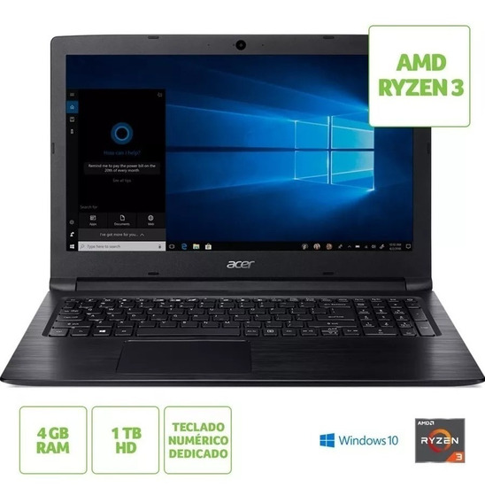 Notebook Acer Aspire 3 A315-41-r790 Amd Ryzen 4gb 1tb Win 10
