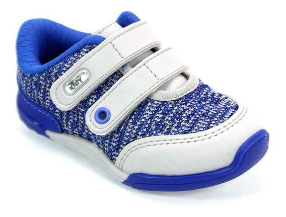 Tênis Menino Colors Cinza E Azul Kidy 008-0414-4423
