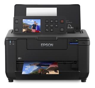 Impresora a color fotográfica Epson PictureMate PM-525 con wifi 220V negra