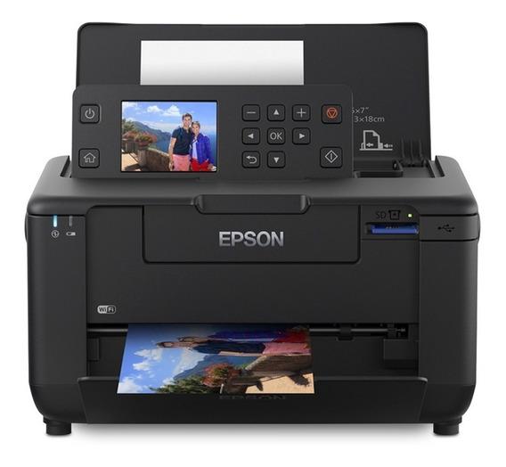 Impressora a cor fotográfica Epson PictureMate PM-525 com Wi-Fi 220V preta