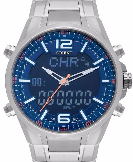 Relógio Orient Masculino Anadigi Prata - Mbssa048 D2sx