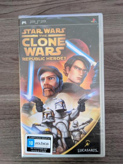 Star Wars Clone Wars Republic Heroes Psp Novo Lacrado