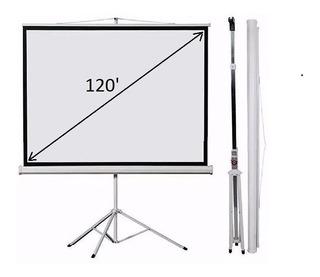 Pantalla 120 Loch C/tripode Ts120 Para Cañon Proyector
