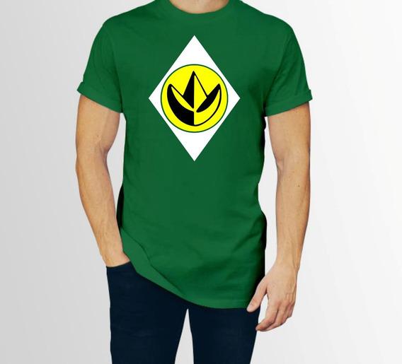 Playera Power Rangers Green Ranger Verde Hombre C/envio