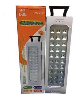 Lampara De Emergencia Portatil 30 Led Recargable Linterna