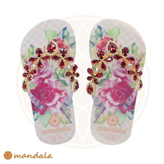Chinelo Mandala Kids Cristal Rubi