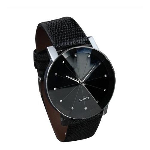 Relógio Quartz Pulseira Couro Masculino