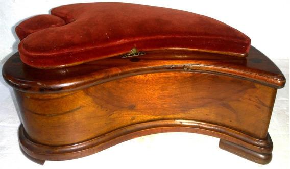 Porta Joias Antigo De Madeira Nobre C/trava 30x23x14cm Raro