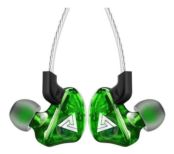 Fone de ouvido QKZ CK5 verde