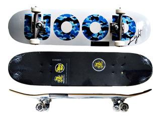 Skate Completo Shape Fiber Glass 8.0 Street Army Blue L Life