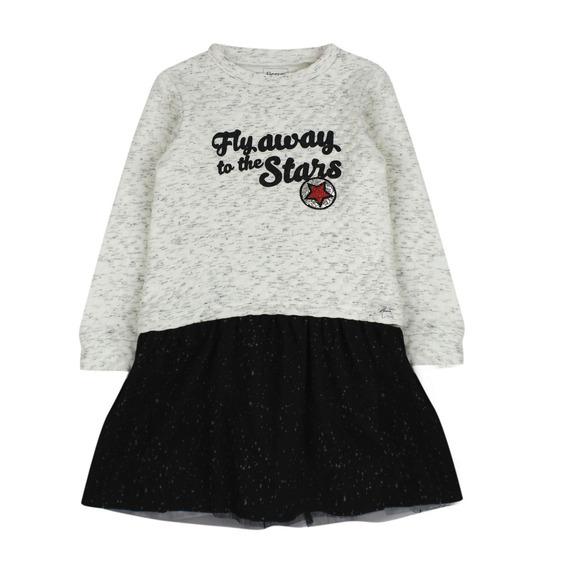 Vestido Kids Niña Cosmos Negro Ficcus