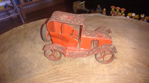 Carro Lata Brinquedo Antigo 19 Cm Comprimento