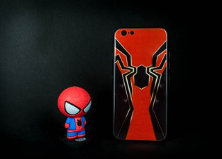 Carcasas Y Fundas iPhone 6/6s Spiderman En Diseño Glass