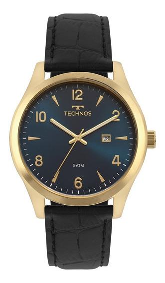Relógio Technos Masculino Pulseira Couro Steel 2115mrx/2a