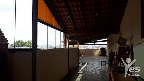 Imagem 1 de 23 de Ref.: Co0922 - Cobertura Com 3 Quartos, Sendo 1 Suíte, 4 Vagas De Garagem Em Utinga, Santo André - Sp. - Co0922