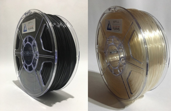 Filamento 3d Flexível_1,75mm_2kg-preto E Transp_frete Grátis