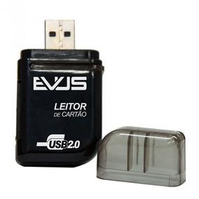 Leitor De Cartão Externo Evus Preto Modelo Lc-01 Para Sd/ Mi