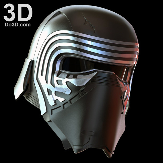 Archivos Stl Para Impresión 3d - Kylo Ren Casco De Star Wars Vii The Force Awakens
