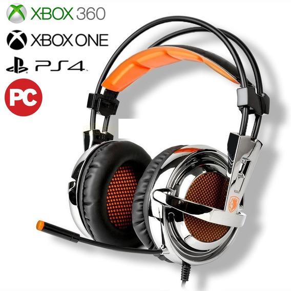 Audifonos Gaming Sades Sa-928 7.1 Pc Ps3 Ps4 Xbox 360 Oem