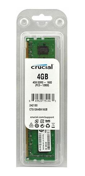 Vendo Memoria De Pc 4gb 1600 Crucial Nueva