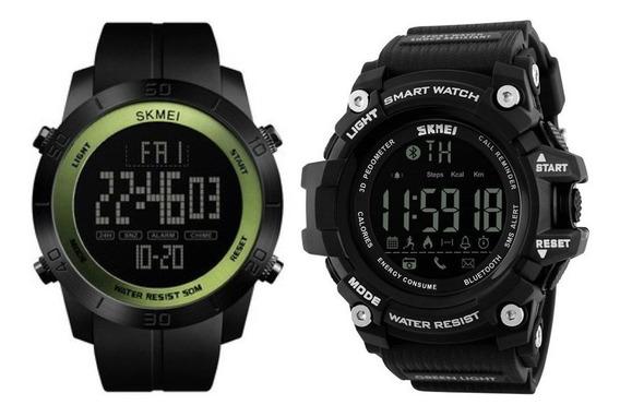 2 Relógios Masculino 1 Skmei Bluetooth + 1 Skmei 1355