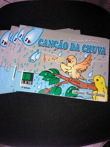 Livro Infantil Canção Da Chuva + Cd