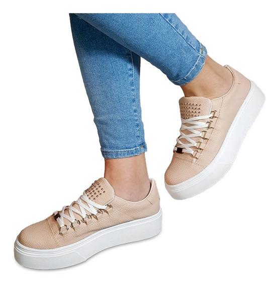 Zapato Zapatilla Mujer Sneaker Urbana Plataforma Tachas