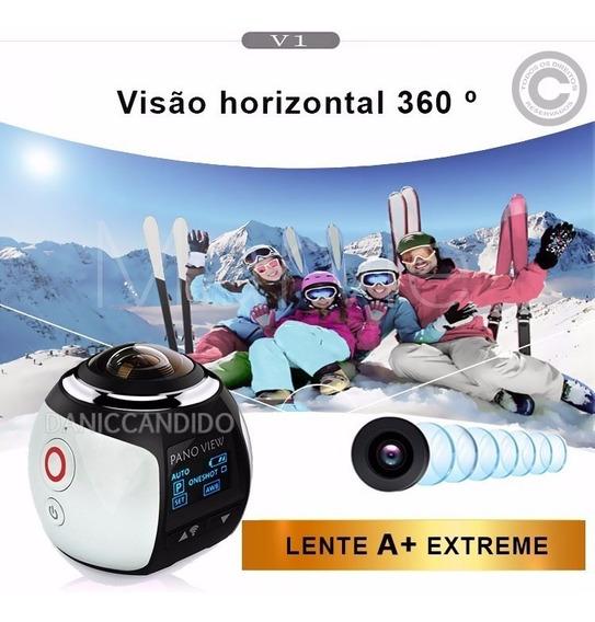Super Câmera 360° + Cartão Memória 32gb + Óculos Vr Max 3d