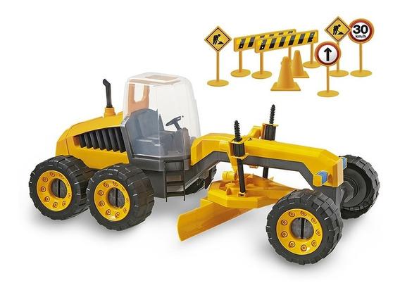 Juguete Maquina De Construccion Motoniveladora Usual Brinque