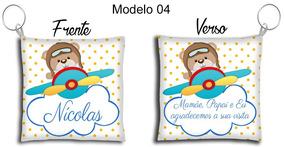 30 Lembrancinhas Chaveiro Almofada Chá De Bebê Urso Aviador
