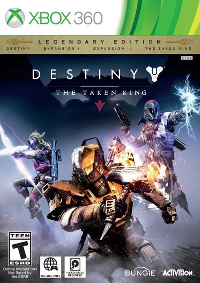 Destiny The Taken King Edição Lendária Xbox 360 Novo + Mgr