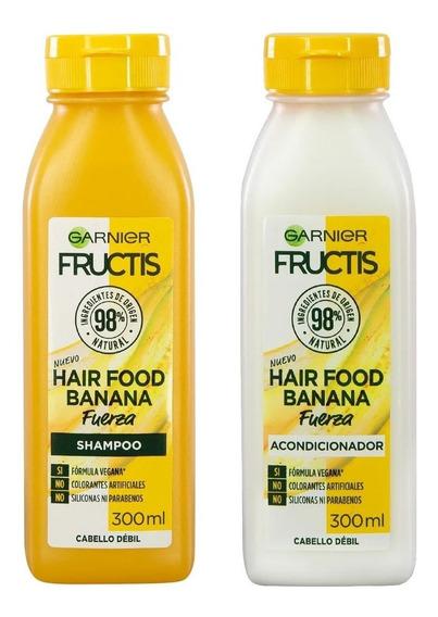 Shampoo + Acodicionador Fructis Hair Food Banana