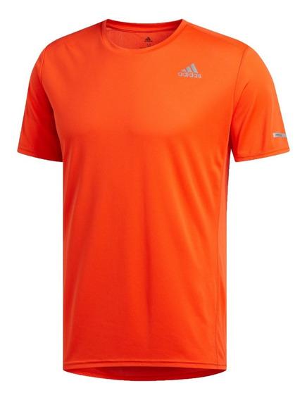 adidas Remera M/c Running Hombre Run Naranja