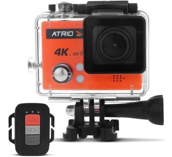 Nova Câmera Ação Atrio Fullsport Cam 4k Laranja Garantia Nf