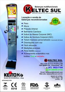 Balança Multifunção Keito K6 Pressão Altura Peso Imc Igc