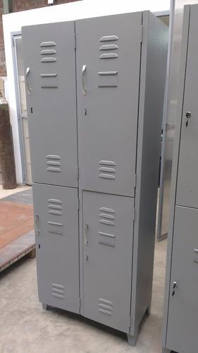 Guardaropas - Locker Metálico De 04 Puertas