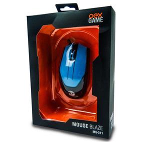 Mouse Oex Blaze 3200dpi Preto Com Azul, Ms-311 Pr/az