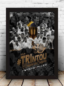 Poster Quadro Corinthians Moldura Com Vidro 35x45 Cm #6