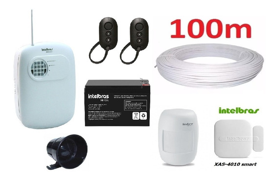 Kit Central Alarme Intelbras Anm 3004 + Acessorios