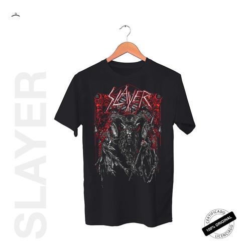 Camiseta Oficial Slayer Hd Baphomet Tour 2019