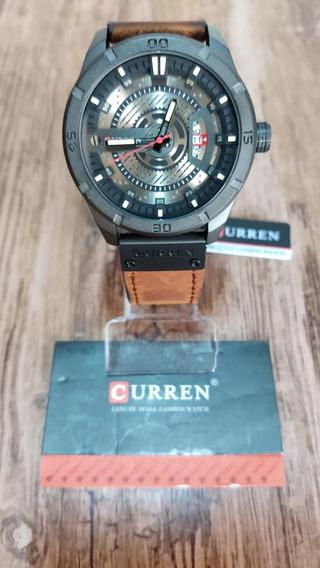 Relógio Curren Masculino M:8301 Original Pulseira Couro