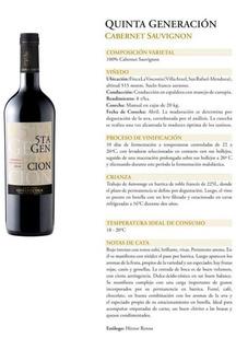 Vino Goyenechea 5ta.generación Cabernet Sauvignon (caja X 6)