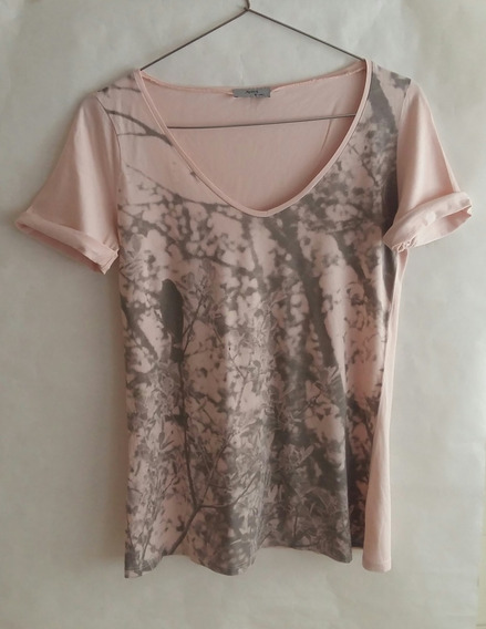 Remera Ayres Rosa Gris Mujer Talle S