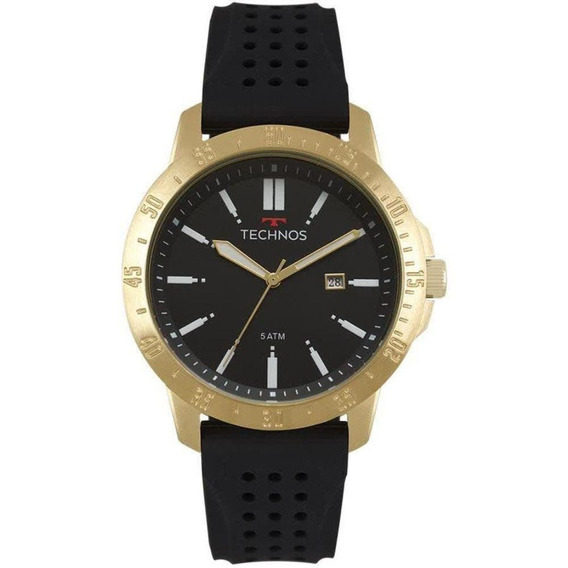 Relógio Masculino Technos Analógico 2115mqw/8p Dourado/preto