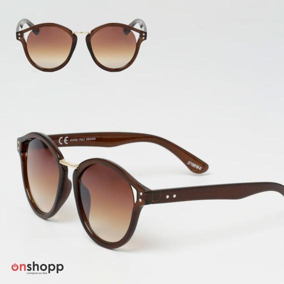 Oculos De Sol Feminino Redondo Uv400 Com Estojo + Flanela