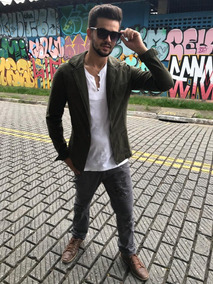 Blazer Terno Casaco Masculino Casual Slim Fit Marca Dardak