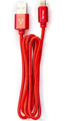 Imagen 1 de 6 de Cable Micro Usb Lightning Vorago 2 En 1 Híbrido Reforzado