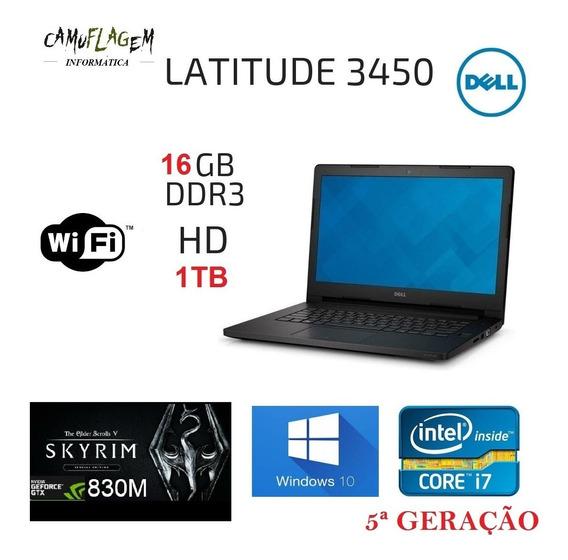 Notebook Dell I7 5ª Geração 16 Gb Nvidea 2gb Hd 1tb Promoção